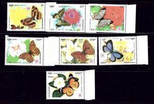 Cambodia 1175-81 MNH 1991 Butterflies  #2