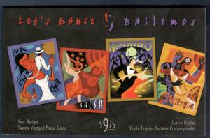 UX445-UX448 Let's Dance Postal Card Complete Set Of 20 (JD)