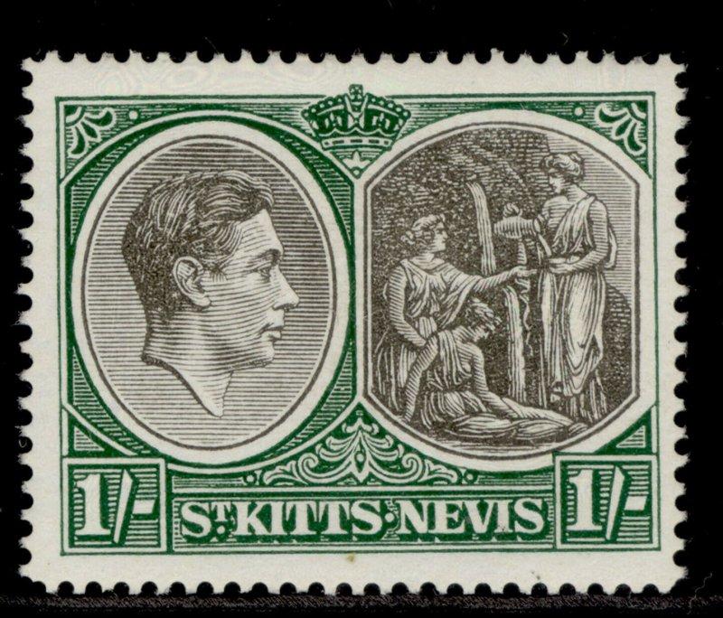 ST KITTS-NEVIS GVI SG75c, 1s black & green, M MINT. Cat £17. CHALKY