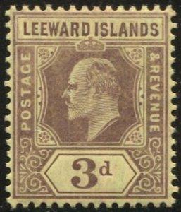 LEEWARD ISLANDS 1910  Sc 34  VLH 3d KEVII VF
