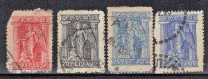 GREECE SCOTT# 119+203+204  HERMES  1911-21  SEE SCAN