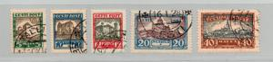 Estonia - Sc# B15 - B19 Used  /  Lot 0119_0318450