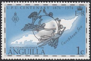 Anguilla #199 UPU Emblem, Map MNH