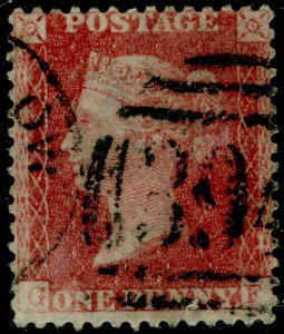 SG40, 1d rose-red PLATE 61, LC14, USED. Cat £30. GF