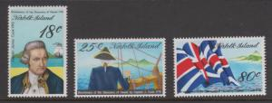 Norfolk Island 1978 Cook's Discovery of Hawaii Set Sc#222-224 MNH & MLH