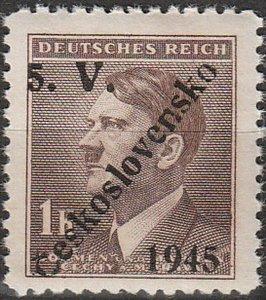 Stamp Germany Czech Bohemia O100 WW2 3rd Reich Hitler Overprint MNH