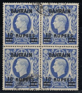 Bahrain, SG 60a, used block of four