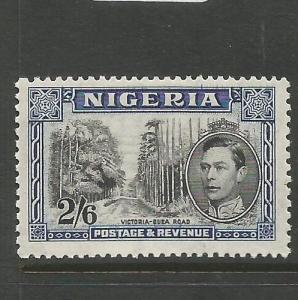 Nigeria KGVI 2/6 SG 58 MOG (6cqw)