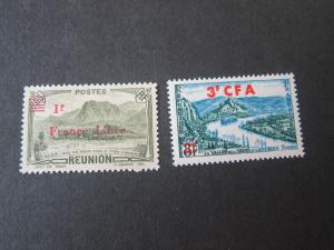 French Reunion 1943 Sc 177A,313 MH