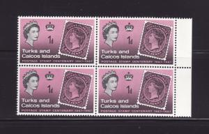 Turks and Caicos Islands 172 Block MNH Stamps on Stamps (E)