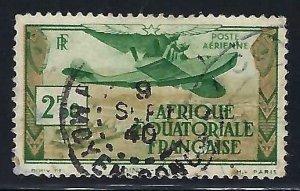 French Equatorial Africa C3 VFU AIRPLANE I901