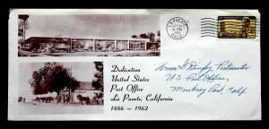 US Stamp Sc# 1203 Early Use on La Puente, CA Post Office Dedication Oct 1962
