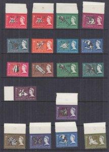 SOLOMON ISLANDS, 1966 sideways watermark, decimal overprint set of 18, mnh.