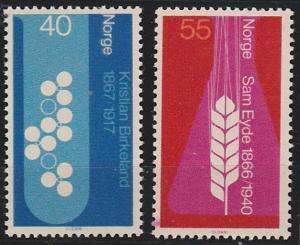 Norway 498-499 MNH (1966)