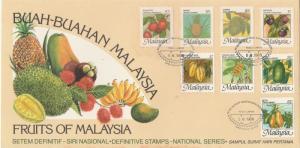 1986 National Fruits Series (High Definitives) FDC SG#344-347e