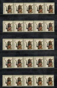 3612 Toleware Coffeepot PNC 5 Strips Of 5 (S1111111) Mint/nh (A-1)