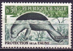 Niger. 1962. 21. Manatee fauna. USED.