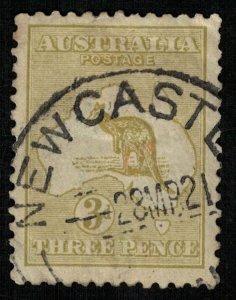1913, Kangaroo, Australia, 3d, olive (T-9403)