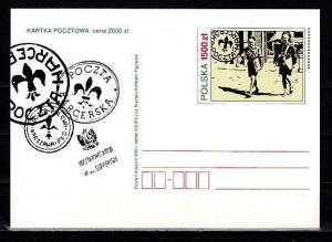 Poland, 1993 issue. Scouting Postal Card. ^