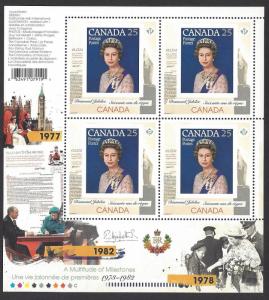 Canada #2515i MNH ss, Queen Elizabeth II diamond jubilee, issued 2012
