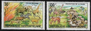 Central Africa #631-2 MNH Set - Wildlife Protection