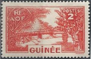 French Guinea 128 (mhr) 2c village, ver (1938)