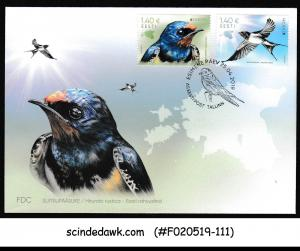 ESTONIA - 2019 NATIONAL BIRDS BARN SWALLOW - FDC