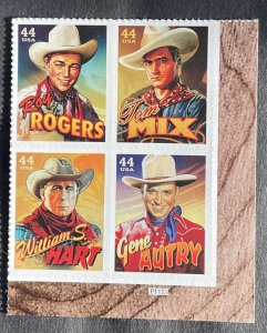 US 2010 Cowboys Plate Block of 4 MInt 4 designs MH #4449a BR P1111