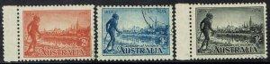 AUSTRALIA 1934 VICTORIA CENTENARY MIXED PERF SET CTO WITH GUM