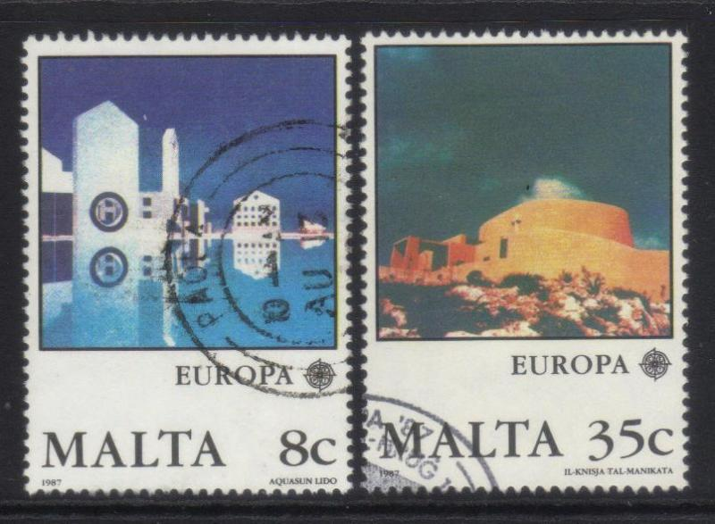 MALTA 1987 MODERN ARCHITECTURE USED SET OF 2