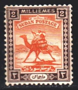 Sudan. 1921. 30a from the series. Postman on a camel. MLH.