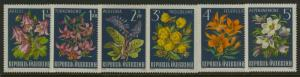 Austria 764-9 MNH Flowers