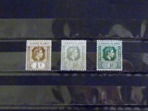 2410   Leeward Isl   MNH, VF   # 103, 120-21  King George VI      CV$ 2.95