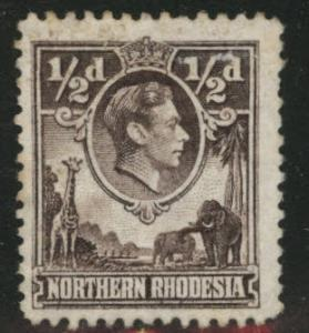 Northern Rhodesia Scott 26 Mint No Gum from KGV! 1938-52 set