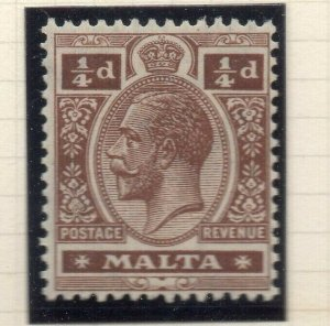 Malta 1921-22 Early Issue Fine Mint Hinged 1/4d. 321520