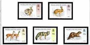 Falkland Is 644-48 MNH 1995 Wild Animals