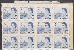 Canada USC #458iii Mint (100) Inc. Blocks - Hibrite Cat. $40. F-VF-NH