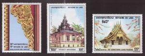 LAOS Scott 196, C65-66 MNH** 1970 set