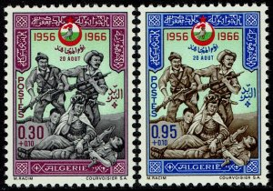 Algeria #B99-100  MNH - Soldiers, Day of the Moudjahid (1966)