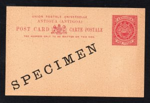 Antigua early SPECIMEN Postal Stationery 1d Post Card