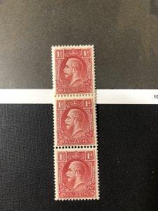Jamaica Scott 103A MNH strip of 3
