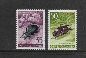 INSECTS - YUGOSLAVIA-TRIESTE #100-1  MNH