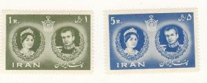 Iran, 1164-65, Shah and Queen Farah Singles, MNH