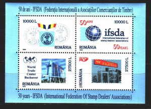 Romania. 2002. bl321. Federation of Postage Stamp Dealers. MNH.