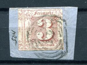 Thurn & Taxis  #12 tied to piece