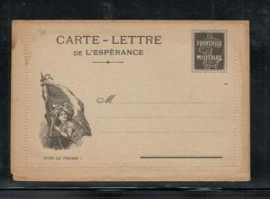 France Letter Card World War for Military Use Patriotic Unused