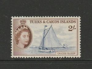 Turks & caicos islands 1957 2/- MM SG 248