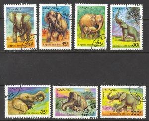 Tanzania Sc# 792-798 Used 1991 Elephants