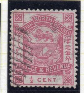 British North Borneo 1888-92 Early Issue Fine Used 1/2c. 115709