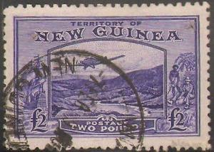 NEW GUINEA #C44 USED (NOTE: TWO SMALL PIN HOLES)
